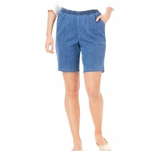 Chic Women's Plus Stretch Pull On Denim Shorts 20
